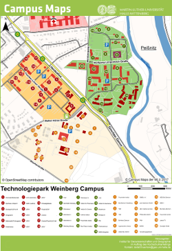Map of Park of Technology Weinberg Campus (PDF)